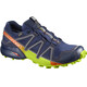 Salomon Speedcross 4 GTX Shoes Men Medieval Blue/Acid Lime/Graphite